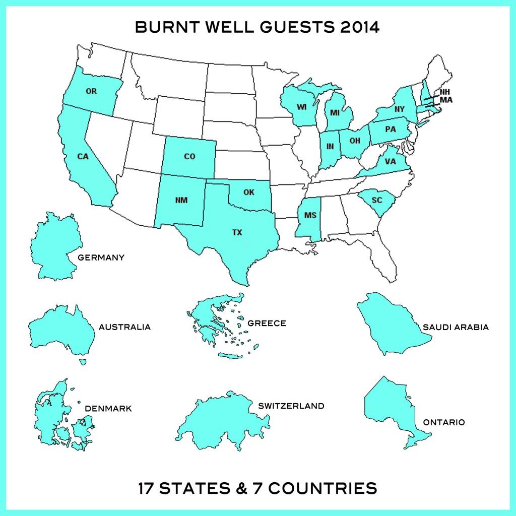 Guest Map June 2014